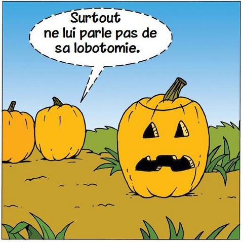 Lobotomie de la citrouille, blague Halloween https://www.blagues-en-stock.org