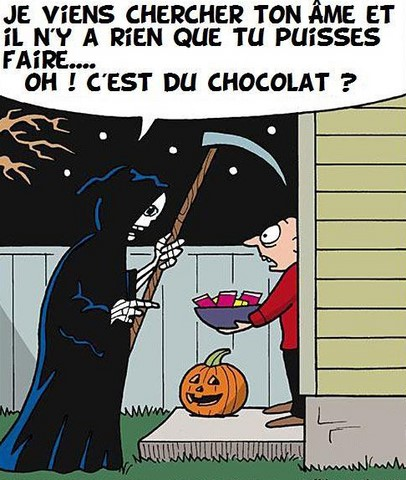 Sauvé par du chocolat, blague Halloween https://www.blagues-en-stock.org